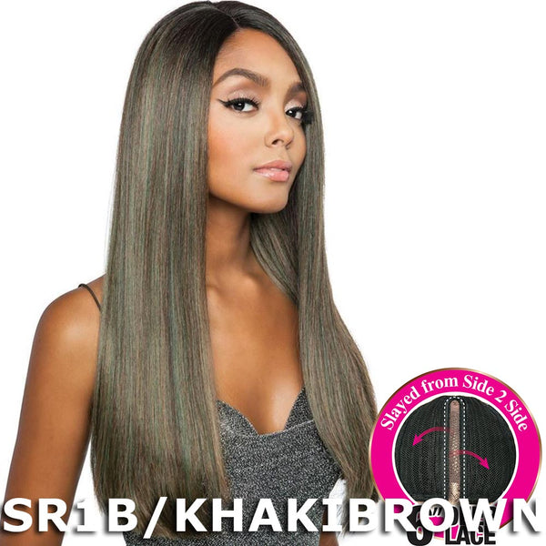 "Brown Sugar Side-2-Side 6"" Deep Lace Wig - BSD2603 BARCELONA ARI"