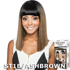Melanin Queen Human Hair Blend Full Wig - ML101