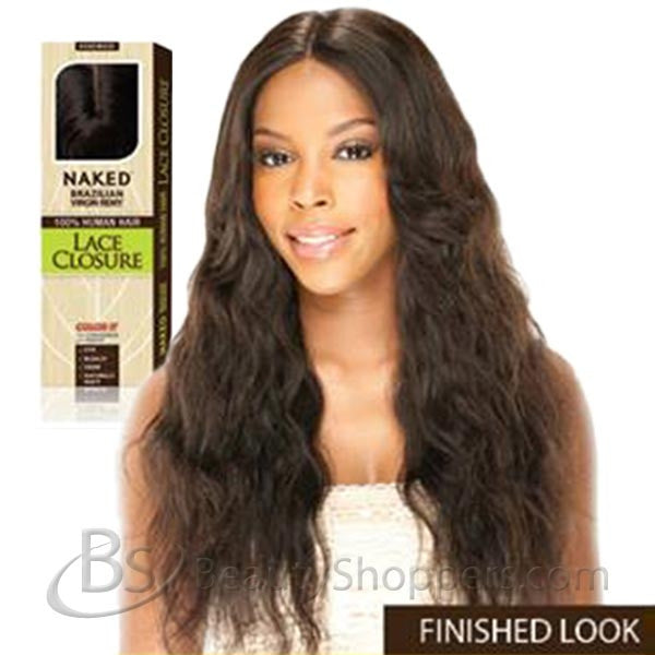 Naked Unprocessed Remy Human Hair Piece - LACE CLOSURE 15""