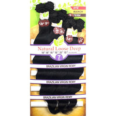 Unprocessed Naked™ Brazilian Remy Hair - NATURAL LOOSE DEEP 7PCS