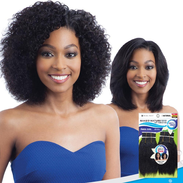 Naked Nature Unprocessed Wet & Wavy Hair Weave - CRYSTAL WAVE 4PCS