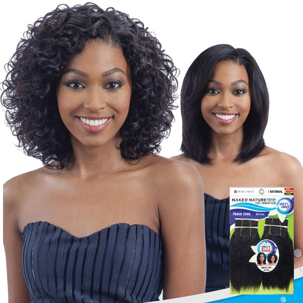 Naked Nature Unprocessed Wet & Wavy Hair Weave - PARIS CURL 4PCS