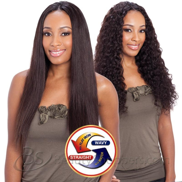 Naked Nature Unprocessed Remy Hair Weave - BRAZILIAN DEEP WAVE (Wet & Wavy Bundle Hair)