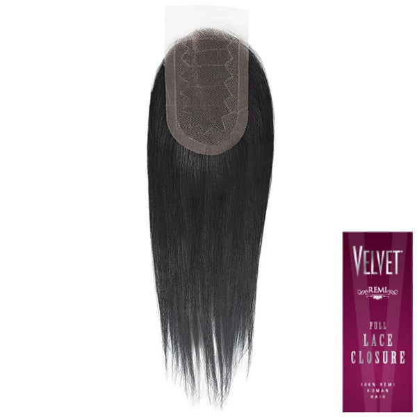Velvet Remi Human Hair Piece - FULL LACE CLOSURE 12""