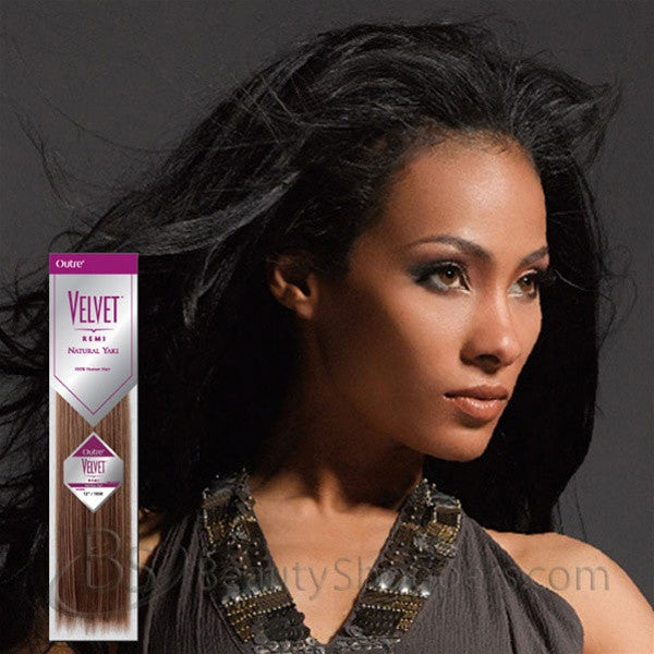 Velvet Remi Human Hair Weave - NATURAL YAKI WEAVING