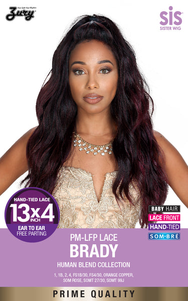 "Sis Prime Human Hair Blend 13""X4"" Free-Parting Lace Front Wig - BRADY"