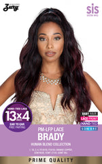 "<font color=red><b>Coming Soon!</b></font> Sis Prime Human Hair Blend 13""X4"" Ear to Ear Free-Parting Lace Wig - BRADY"
