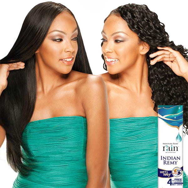 Moisture Remy Rain Indian Hair Weave - LONG LOOSE DEEP 4 PCS (Wet & Wavy)