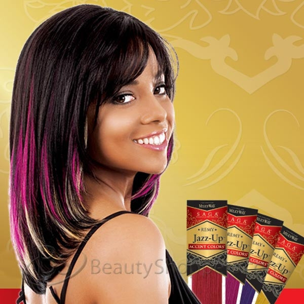 Shake N Go Milky Way Saga Remy Weave Jazz Up Accent Colors