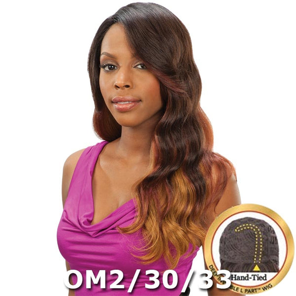 "Saga Remy Human Hair Deep Invisible ""L"" Part Wig - GLAMOROUS 22"""