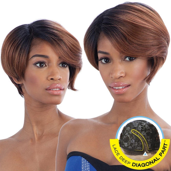 FreeTress Equal Lace Deep Diagonal Part Lace Front Wig - BERRY BLOSSOM