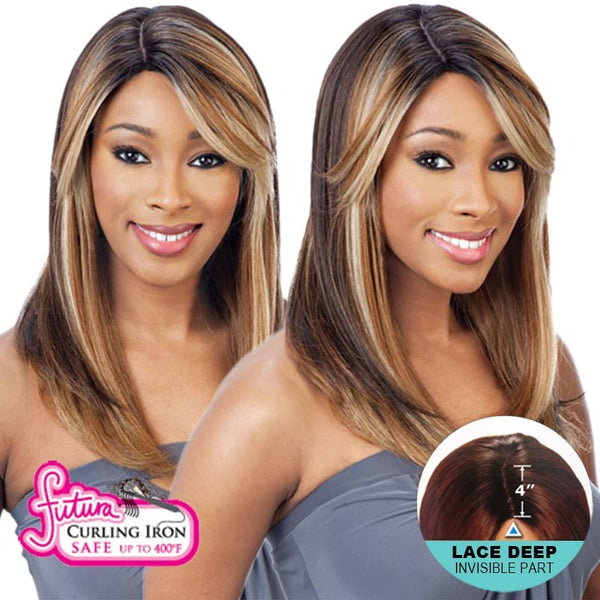 Shake-N-Go Brazilian Natural Collection Lace Deep Invisible Part Lace Front Wig - LACE NELLY