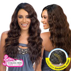 FreeTress Equal Hair Lace Deep Diagonal Part Lace Front Wig - BRAZILIAN FLIRTY DEEP