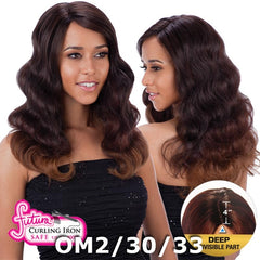 "FreeTress Equal Futura Hair Lace Front Wig - LESLIE (4"" Deep Invisible Part Pre-Cut Lace)"