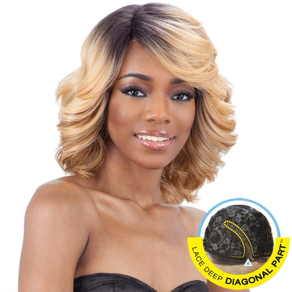 FreeTress Equal Lace Deep Diagonal Part Lace Front Wig - LOVE BLOSSOM