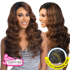 FreeTress Equal Lace Deep Diagonal Part Lace Front Wig - BRAZILIAN NATURAL LOOSE