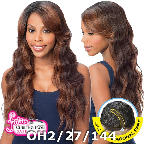 FreeTress Equal Lace Deep Diagonal Part Lace Front Wig - PEACH BLOSSOM