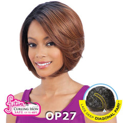 FreeTress Equal Hair Lace Deep Diagonal Part Lace Front Wig - PURPLE BLOSSOM