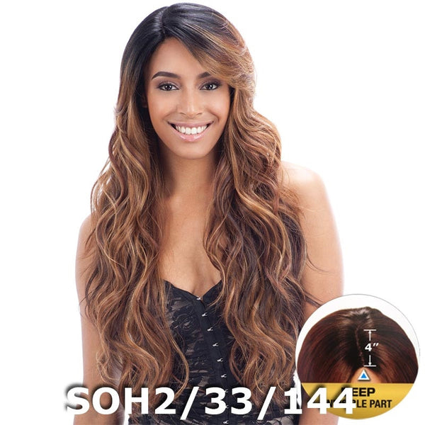 "FreeTress Equal 4"" Deep Invisible Part Lace Front Wig - SUZIE"