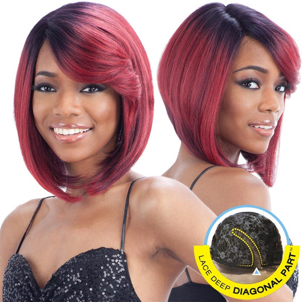 FreeTress Equal Lace Deep Diagonal Part Lace Front Wig - SWEET BLOSSOM
