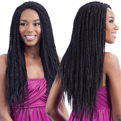 HOT SINGLE TWIST - FreeTress Braid Lace Front Wig