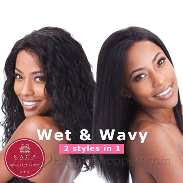 Saga Indian Remy Hair Lace Front Wig - LOOSE DEEP (Wet & Wavy)