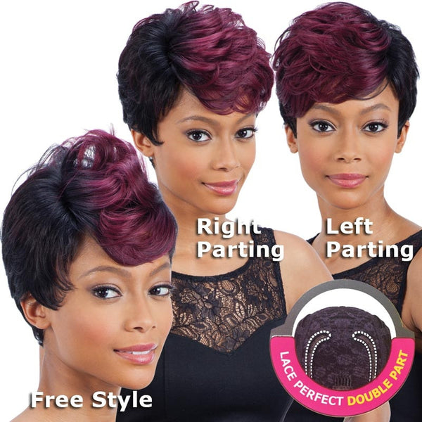 FreeTress Equal Lace Perfect Double Part Wig - STRAIGHT FLUSH