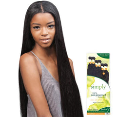 Outre Simply Unprocessed Brazilian Hair - PERFECT-7 NATURAL STRAIGHT (6 PCS+Closure)