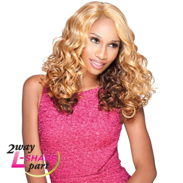 "Sensationnel Empress Cut & Blend  ""L"" Part Lace Front Wig - KEESHA"