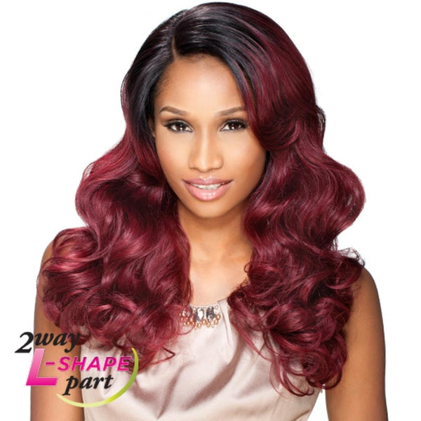 "Sensationnel Empress Cut & Blend ""L"" Part Lace Front Wig - KRIS"