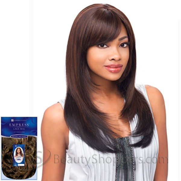 Sensationnel Empress Natural Lace Front & Nape Wig - BREE (BANG)
