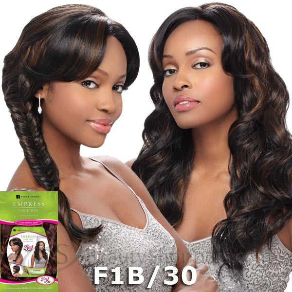 Sensationnel Empress 2 in 1 Braid Hairline Lace Front Wig - DIAMOND