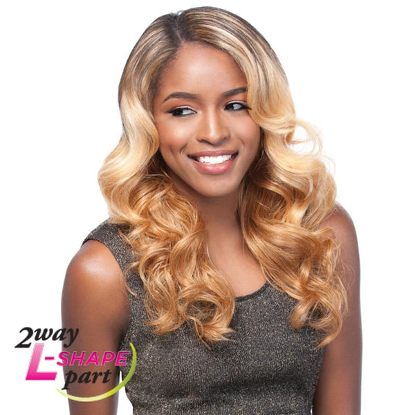 "Sensationnel Empress Cut & Blend ""L"" Part Lace Front Wig - HELENA"
