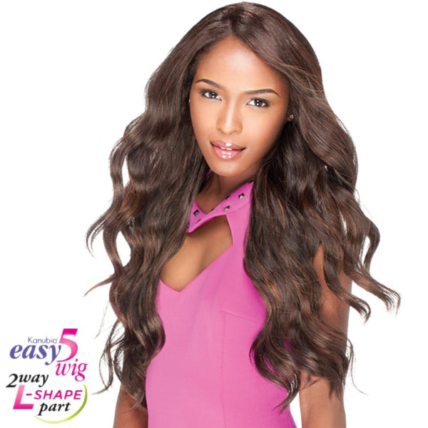 "Sensationnel Empress Cut & Blend  ""L"" Part Lace Front Wig - Easy-5 LOOSE"