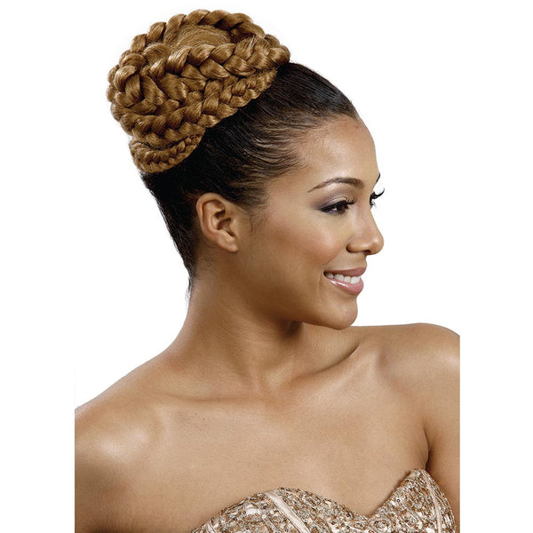 BobbiBoss Speedy Up Do Braid Bun - DOUBLE RAINBOW