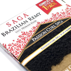 Saga Brazilian Remy Hair Weave - PASSION CURL 5PCS