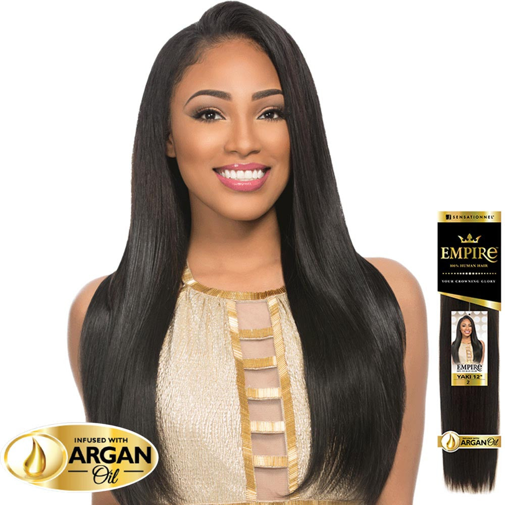 Sensationnal hair wigs weaves beautyshoppers sale sensationnel empire human hair weave yaki infused with argan oil pmusecretfo Choice Image
