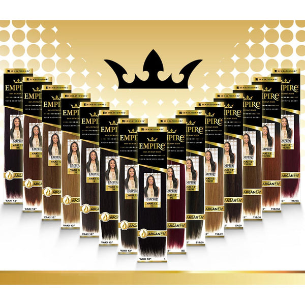 Sensationnel Empire Human Hair Weave - YAKI (Infused with Argan Oil )