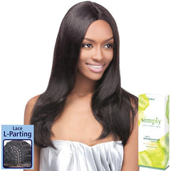 Simply Non-Processed Brazilian Hair Lace Front Wig - Natural Straight