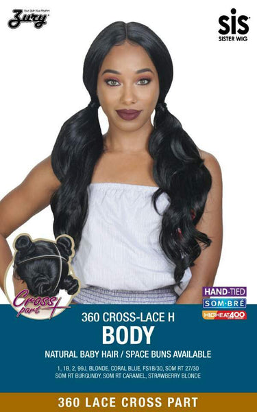 Sis 360 Cross Part Lace Front Wig - BODY