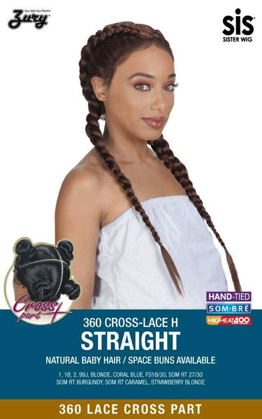 Sis 360 Cross Part Lace Front Wig - STRAIGHT