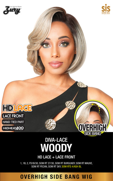 Zury Sis Diva Overhigh Side Bang HD-Lace Wig - WOODY