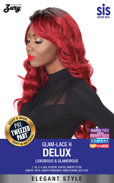 Sis Glam Pre-Tweezed Part Swiss Lace Front Wig - DELUX