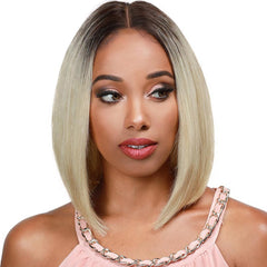 "Zury Sis Unprocessed Human Hair Lace Front Wig - GETTY (12"")"