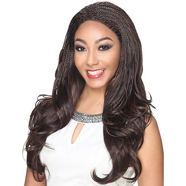 Hollywood Sis Afro Lace Braid Wig - CARIBBEAN