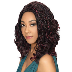 Hollywood Sis Afro Lace Braid Wig - SWIRL