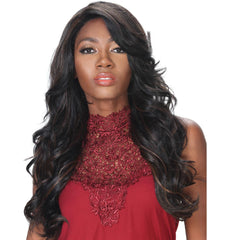 "Zury Sis Prime Human Hair Blend 4""X4"" Swiss Lace Front Wig - CHERRY"