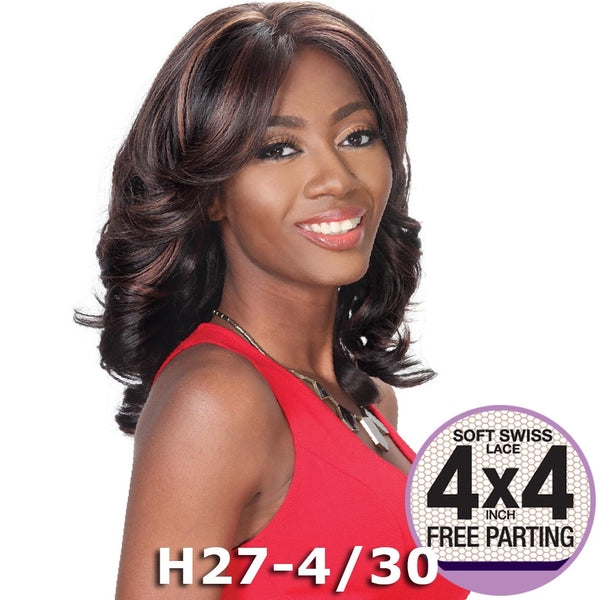 "Zury Sis Prime Human Hair Blend 4""X4"" Swiss Lace Front Wig - FAITH"