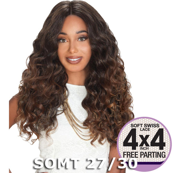 "Zury Sis Prime Human Hair Blend 4""X4"" Swiss Lace Front Wig - ZION"