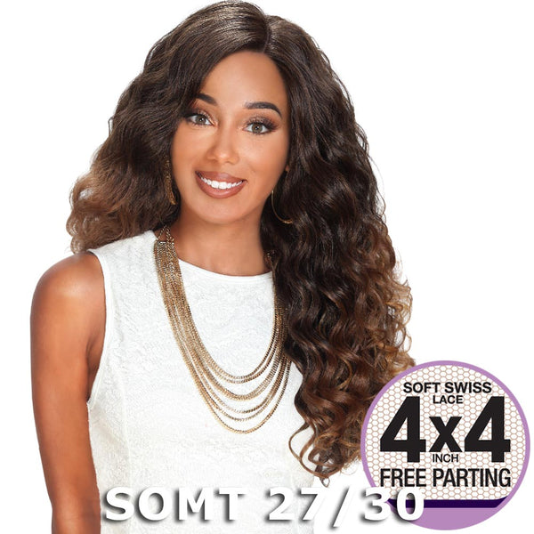 "Sis Prime Human Hair Blend 4""X4"" Swiss Lace Front Wig - ZION"